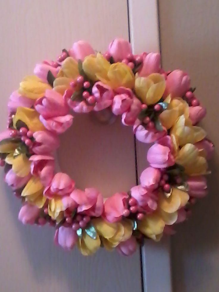 Spring Tulip Wreath Nat 39 S Creations And Collaborations