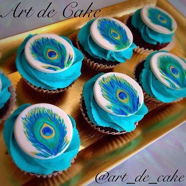 Hand Designed Peacock Feather Themed Chocolate Cupcakes with Food Colored Vanilla Buttercream Frosting!  awesome #cakestotaste from: @art_de_cake    have your own awesome #cakestotaste ? tag us!!   via #cakeguide #cakemenu #kue #kueenak #kuelucu #kueonline #indonesiaphotographers #cake #cakes #cakeart #cakedesign