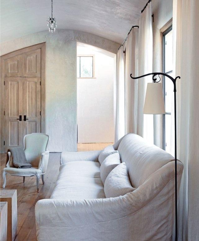 Minimalist living room in Santa Fe–style residence | archdigest.com