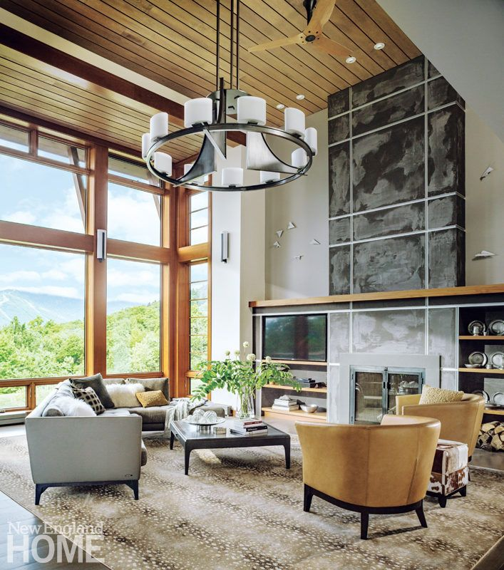 The Upper Story Of This Vermont Home Was Removed To Give The Great Room Its High