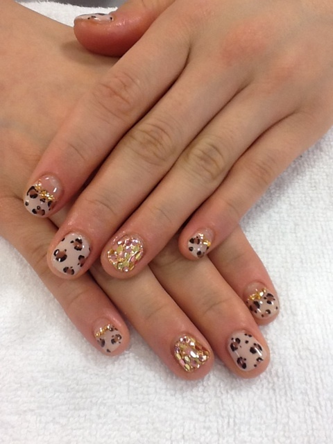 Japanese Nail Art Manicure (Cheetah Print, Animal Print, Sparkles)