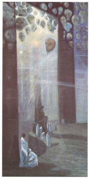 Josef Váchal - Ahrimana cult (1918) #painting #Czechia #art
