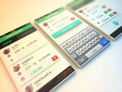 Buying Players - COBE München UI Design