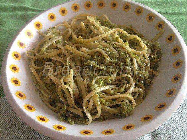 Linguine con Pesto e Zucchine