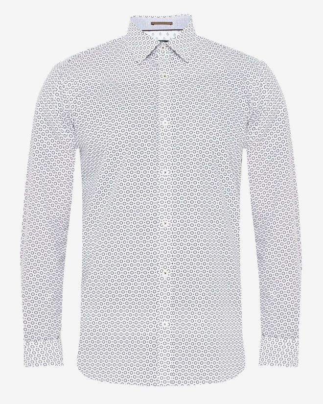 Debonair hexigon print shirt - White   Shirts   Ted Baker