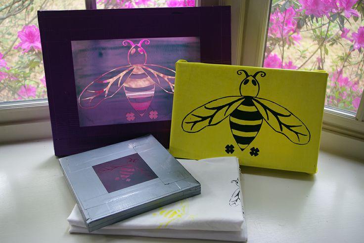 Bumblebee screen print for @isfive