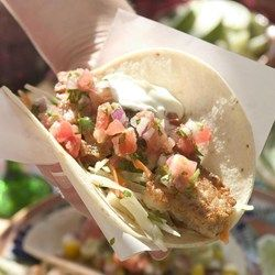 Beer-Battered Fish Tacos with Tomato & Avocado Salsa - EatingWell.com