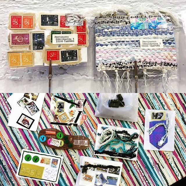 Postimuseo on Instagram: Riitta Ikosen ohjaama Mail Art -postikorttityöpaja työpajatilassa. #mailart #mailart_artmail #riittaikonen