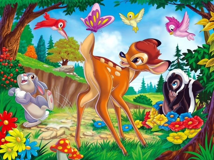 Image result for bambi with butterflies