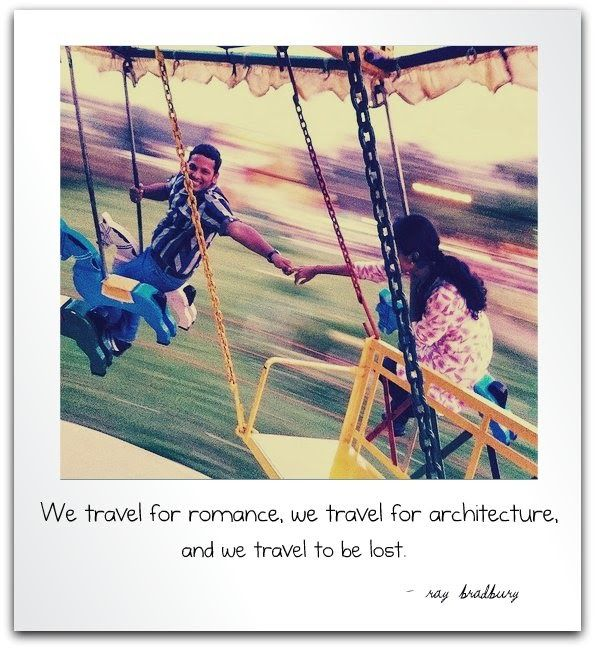 """""""We travel for romance, we travel for architecture, we travel to be lost"""". (R. Brandbury)  (Original photo © Flickr vinothchandar) #travelquotes"""