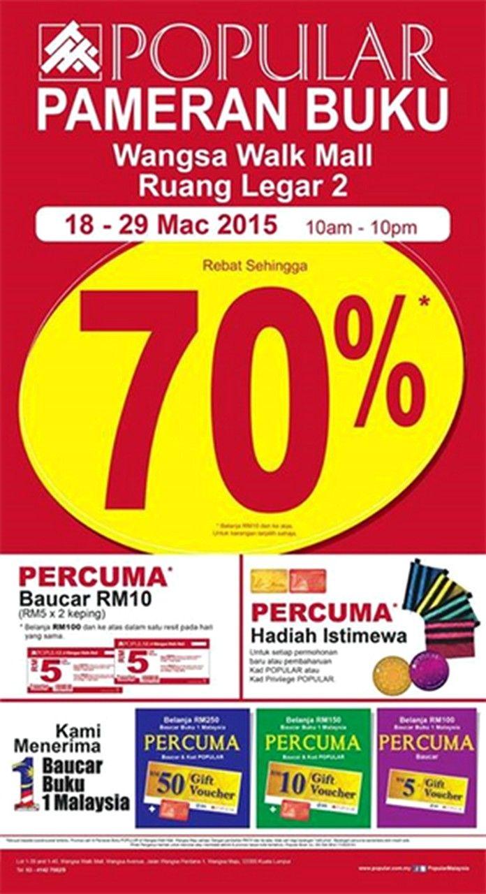 18-29 Mar 2015: Popular Bookstores Sale Fair for Books Discounts at Wangsa Walk Mall