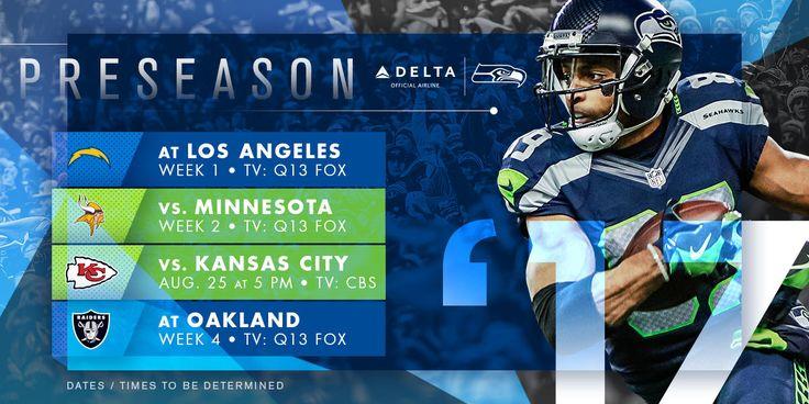 IT BEGINS!!!!! ..... Seattle Seahawks Announce 2017 Preseason Schedule | Seattle Seahawks