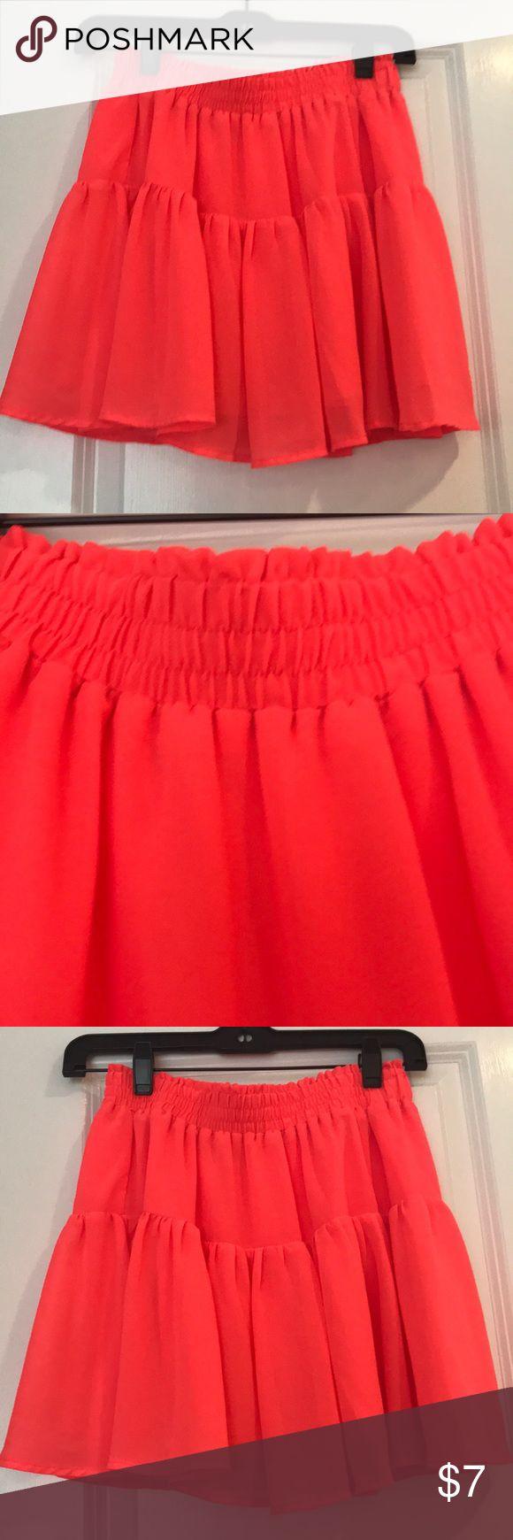 Neon orange H&M divided skirt Neon orange skirt Divided Skirts Mini
