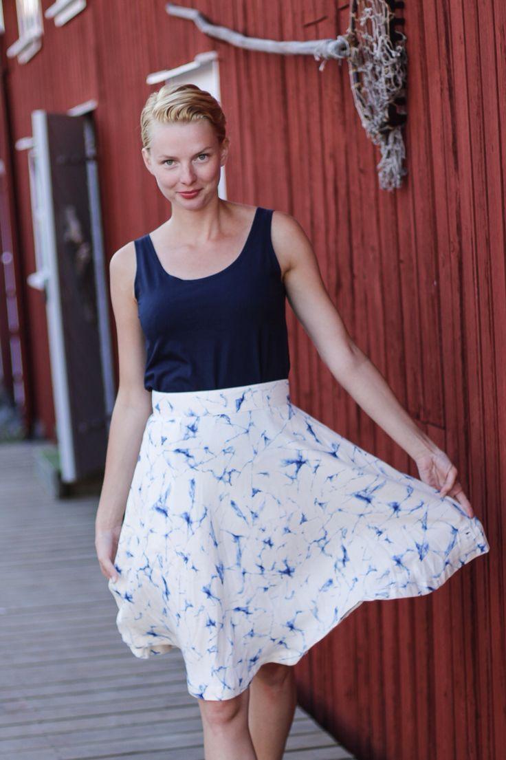 Marmormönstrad kjol från emma och malena. Käringön.
