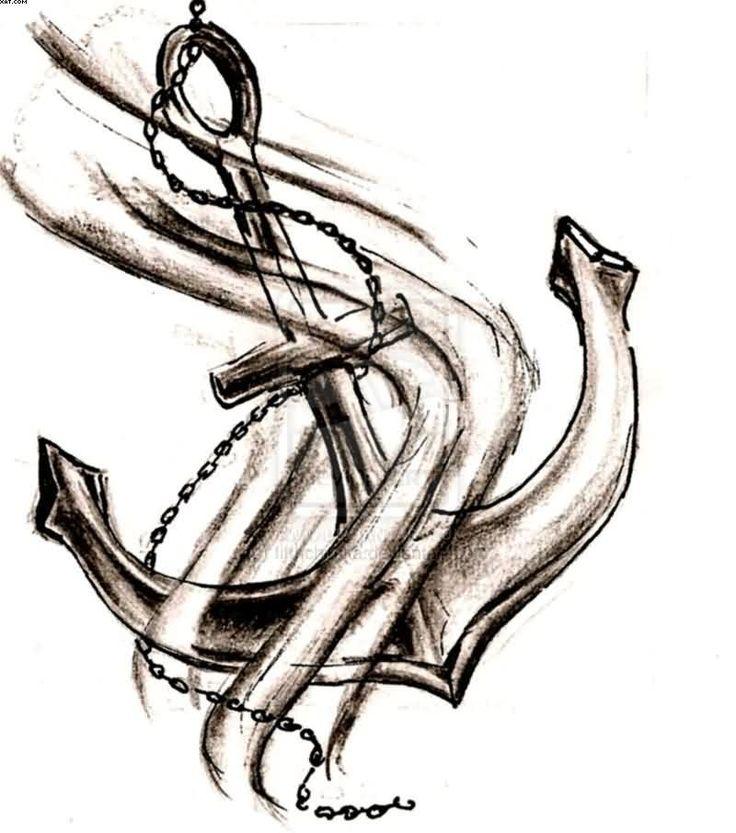 Christian Anchor Tattoos christian cross anchor tattoo stencil ...