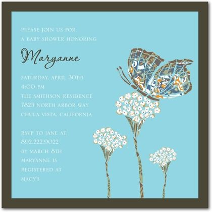beautiful butterfly baby shower invites