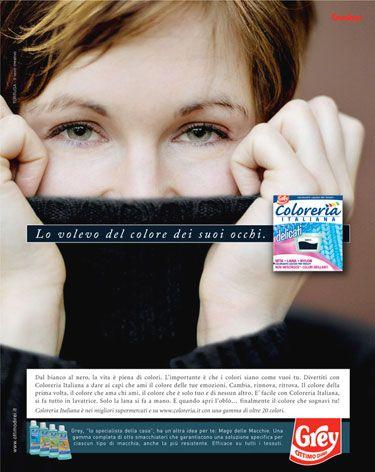 Campagna Multisoggetto Coloreria Italiana dove ogni colore scelto identifica un desiderio.