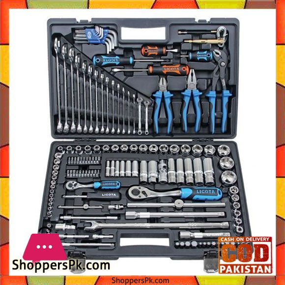 Buy 143 Pcs Hand Socket And Tool Kit White At Best Price In Pakistan Tool Kit Garage Organization Tips Work Tools