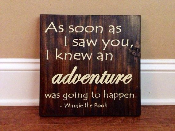 Adventure Sign, Stained and Hand Painted, Customizable, Personalize,  Home decor on Etsy, $33.00
