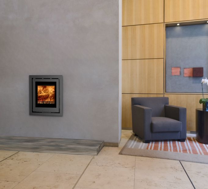 De Lusso L4 inset wood burner stove available from Eco Fire Stoves