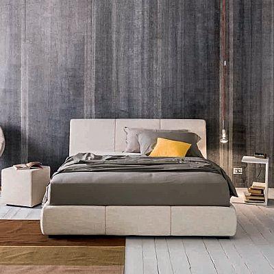 Padded, minimalist 'Dance' bed by Morassutti