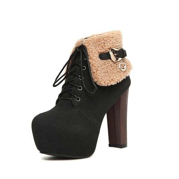 2012 New Trendy Vintage Women Ankle Suede Heels