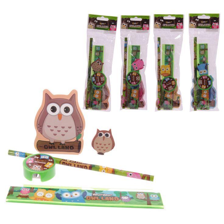 #Set per la #scuola con #Gufo colorato - Puckator Grossista di Articoli da regalo - www.puckator.it
