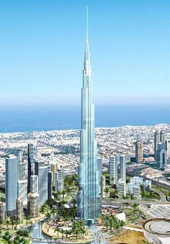 Travel to the top of the 2313 ft. tall Burj Dubai building!!!