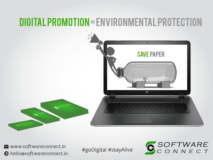 """""""Software Connect promotes products through electronic media which will lessen the use of hoarding, flyers and pamphlets. This will save the paper and become environment friendly"""". #EnvironmentDay #CRMSoftware #HRMSSoftware #OrganicSEO #DigitalMarketing W:http://softwareconnet.in/"""