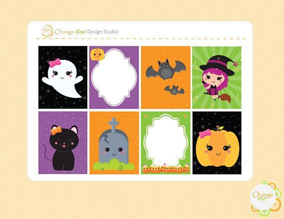 Kawaii Halloween Planner Stickers Kawaii Halloween Stickers