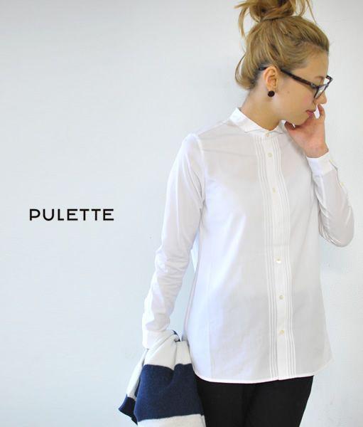 【楽天市場】【1点無料SALE対象】PULETTE プレット ブロード ウィングカラーシャツ・pl-sh0733(全2色)(S・M)【2013秋冬】:Crouka(クローカ)