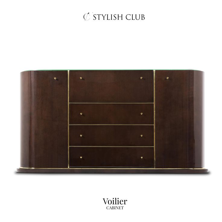 As part of the Voilier Collection, the Voilier cabinet was conceived to enrich any living or entertaining area.
