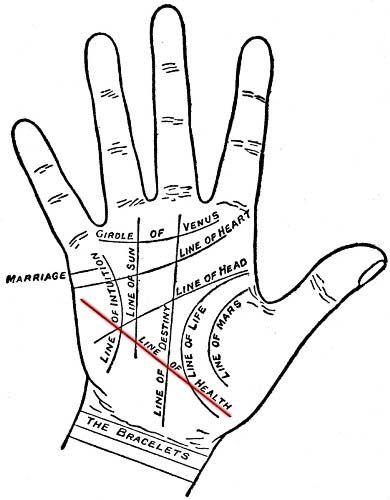 Palmistry Health Line