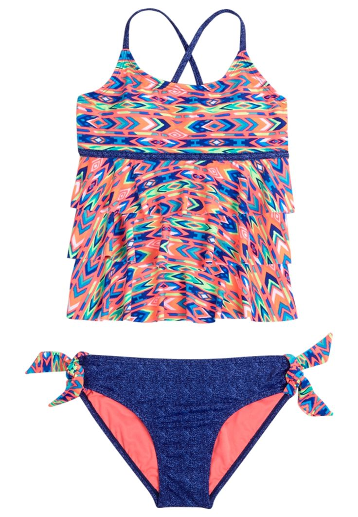 Dye Effect Tankini Swimsuit (original price, 32.90) available at #Justice