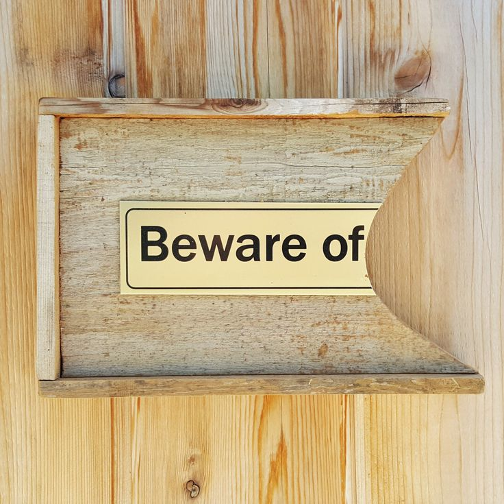 BEWARE OF  |  An All-Purpose Repurposed Warning Sign (Small)  |  Animals, Kids, Teens, Boss, Office by BumperCropMarketing on Etsy