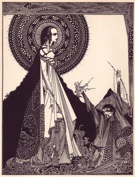Для самых бесстрашных - несколько иллюстраций Гарри Кларка к книге Эдгара По…