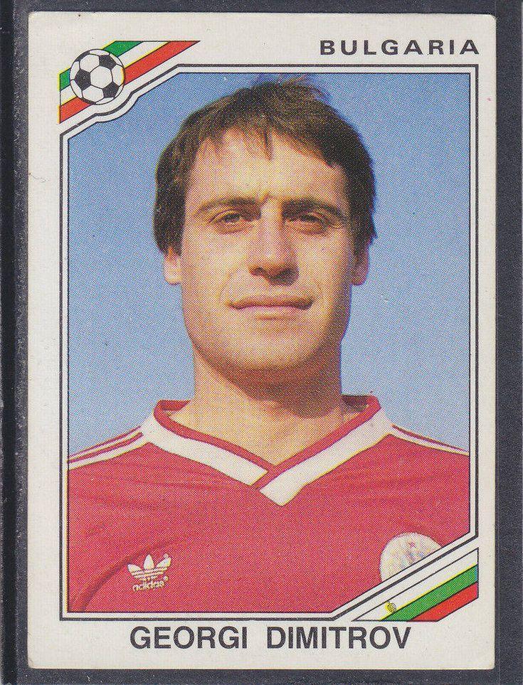 Dimitrov bulgarie mexico 86 world cup sticker