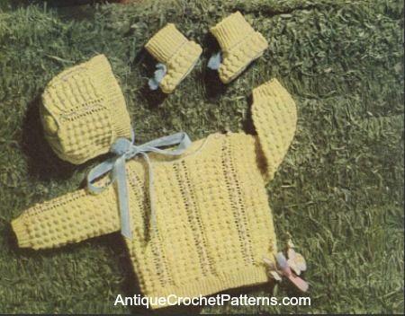 Crochet Baby Set - Crocheted Infant's Set