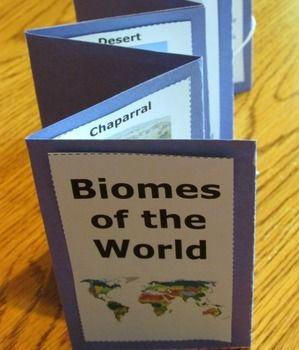 Biomes: Your students will love this printable science biomes activity. They will make a biomes accordion booklet featuring nine different biomes of the world . The students will need to research biomes to discover fun facts about each type biome.