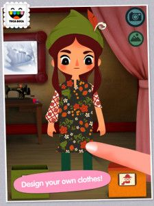 Toca Boca Tailor App - They have many apps, this is fun, children can work different outfits, insert photos ...