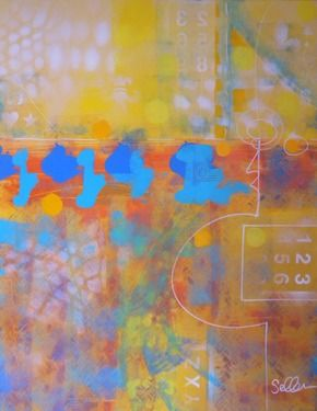 "Saatchi Online Artist gordon sellen; Painting, ""Meeting of Discovery"" #art"