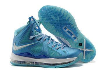 Nike King LeBron James 10 Ice Blue-White Mens Sneakers