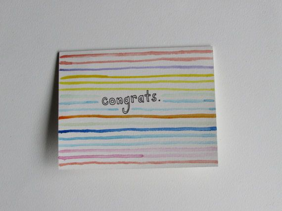 Congrats Handmade Greeting Card by AnnaJaynesDesigns on Etsy, $3.95