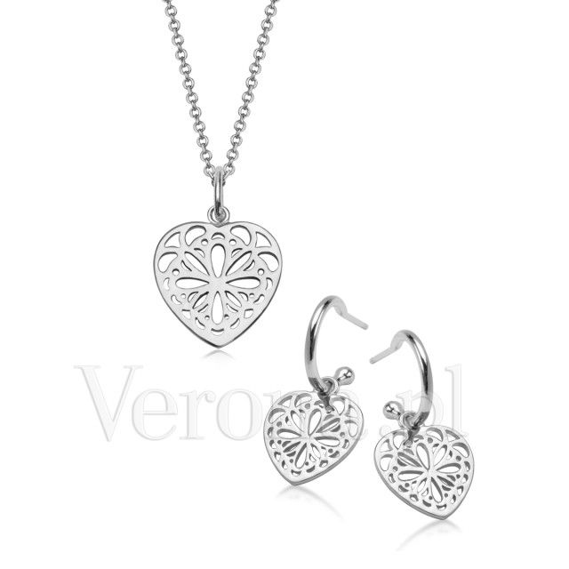 Srebrny Komplet Świąteczny Julia / www.Verona.pl/komplet-swiateczny-9135 / BUY: www.Verona.pl/komplet-swiateczny-zloty-9093 / #christmas #Verona #buyonline #cheapandchic #perfectgift #gift #giftsideas #buy #online #silver #gold #pretty #style #classy