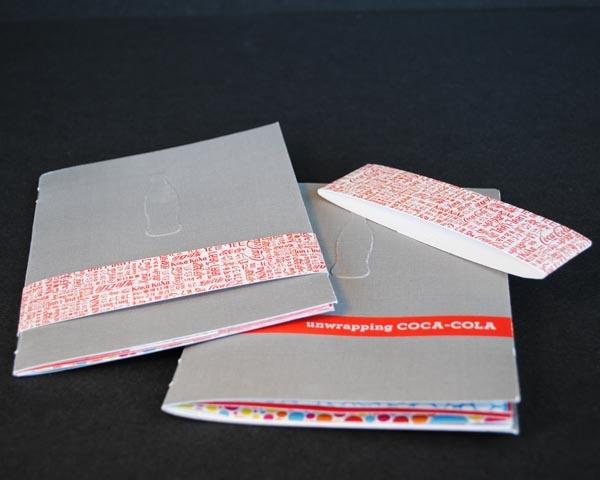 Unwrapping Coca-Cola. Small Branding Booklet.  Design by Jennifer Waycaster - Birmingham AL