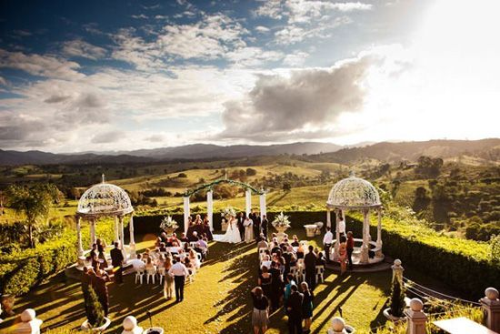 The floral garlands, the domes, the rolling hills, the clouds. Spectacular.