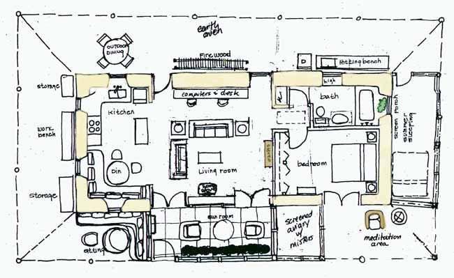 Straw Floor Plan Straw Bale Houses Pinterest House