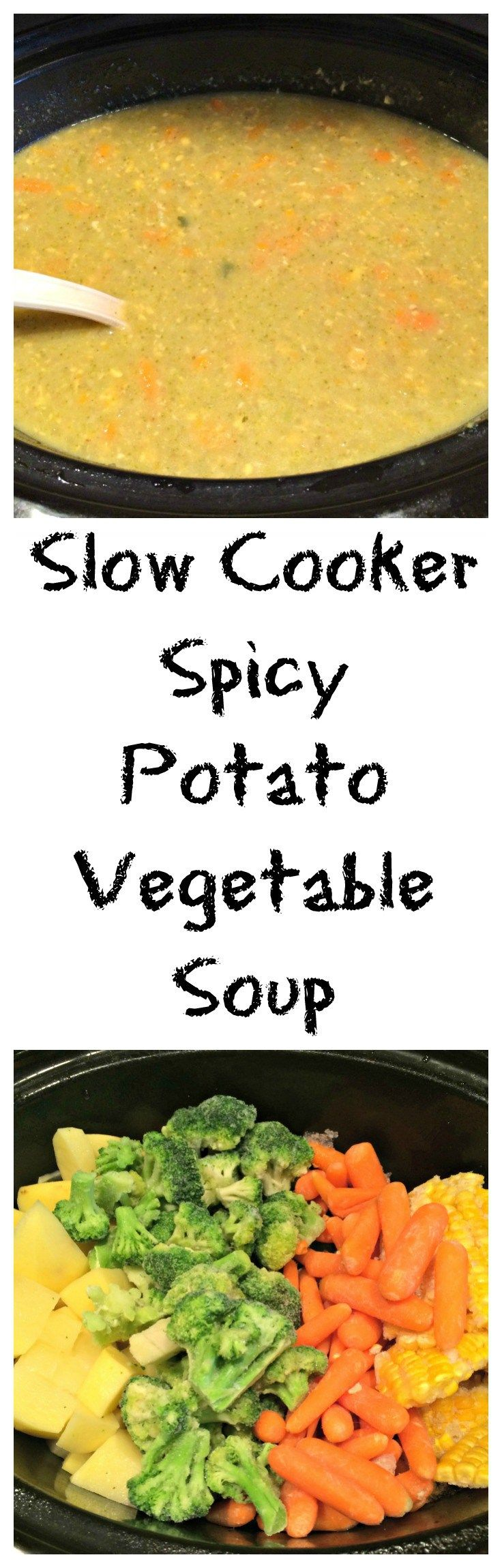 Slow Cooker Spicy Potato Vegetable Soup Recipe