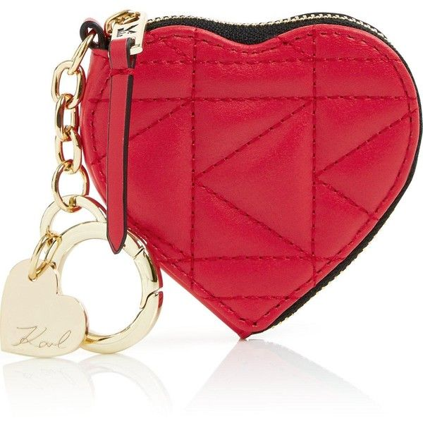 Karl Lagerfeld Valentine Heart Purse (5.705 RUB) ❤ liked on Polyvore featuring bags, handbags, red, leather hand bags, quilted handbags, quilted leather handbags, hand bags and man bag