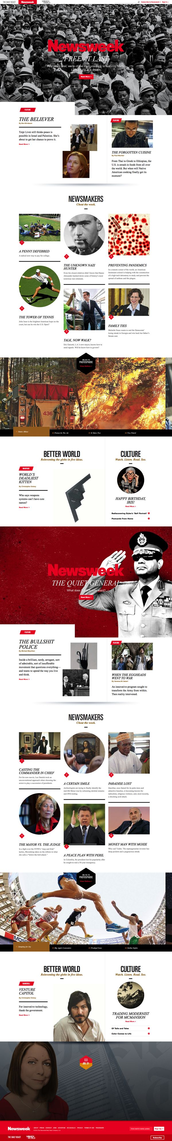 The Daily Beast Newsweek. Out-of-the-box layout. Check out the sweet page loader at the bottom